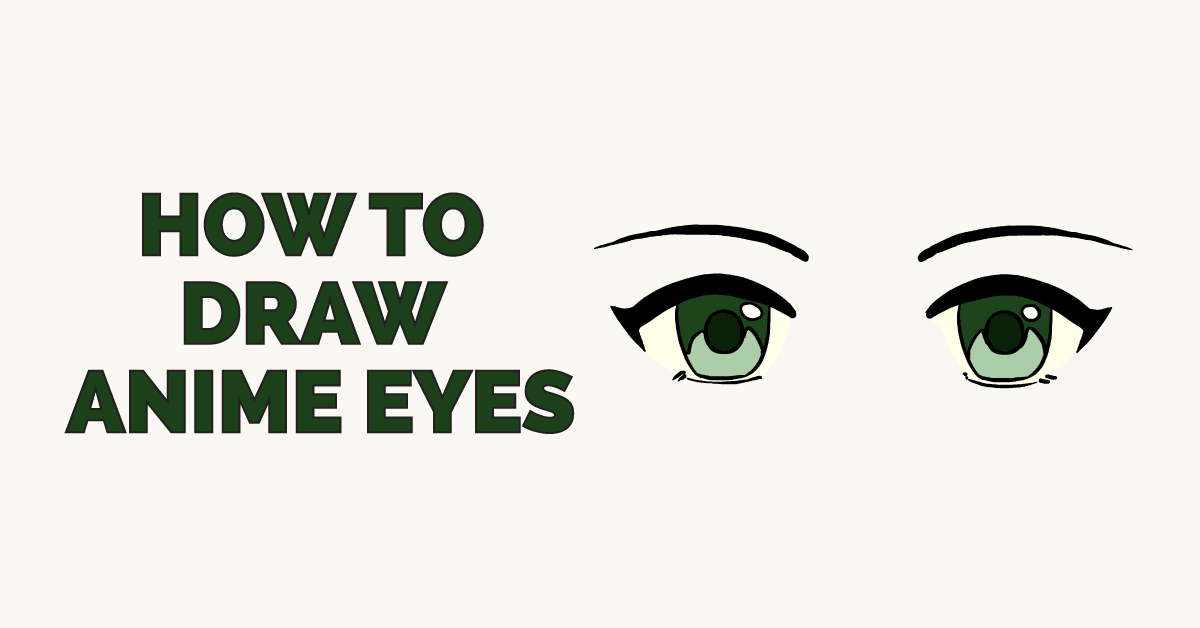 How to draw eyes. Anime clipart shape