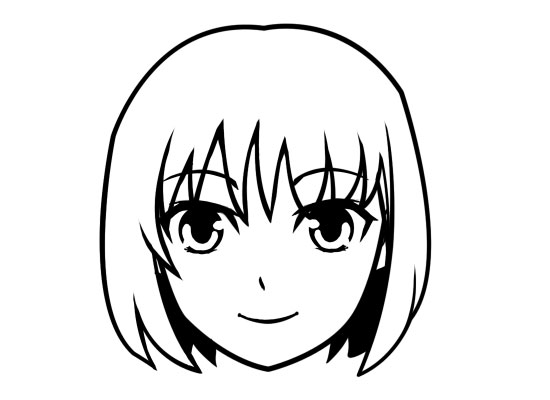 Anime clipart shape. Free face cliparts download