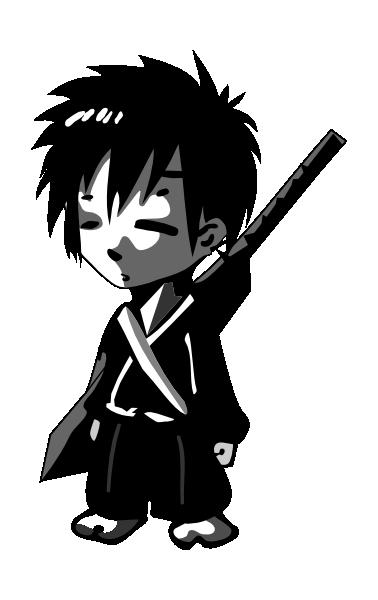 Anime clipart small. Samurai clip art at