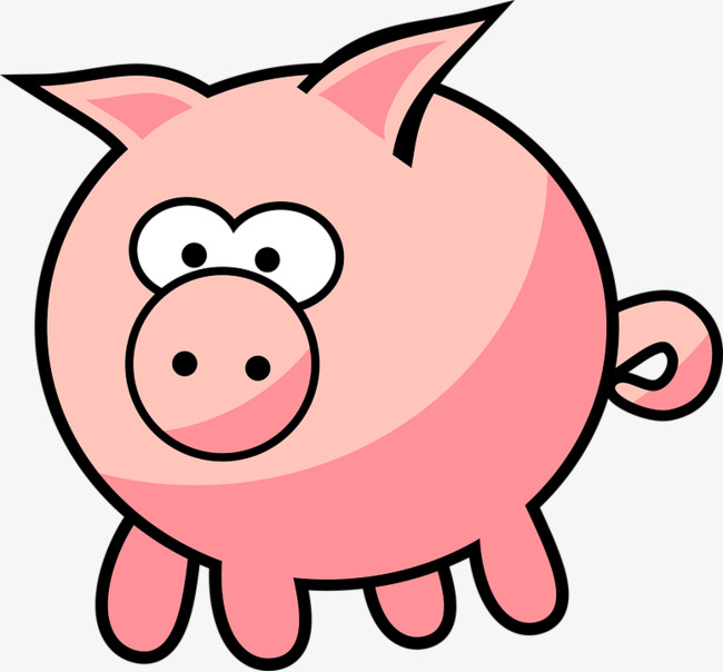 Pig animation png image. Anime clipart small