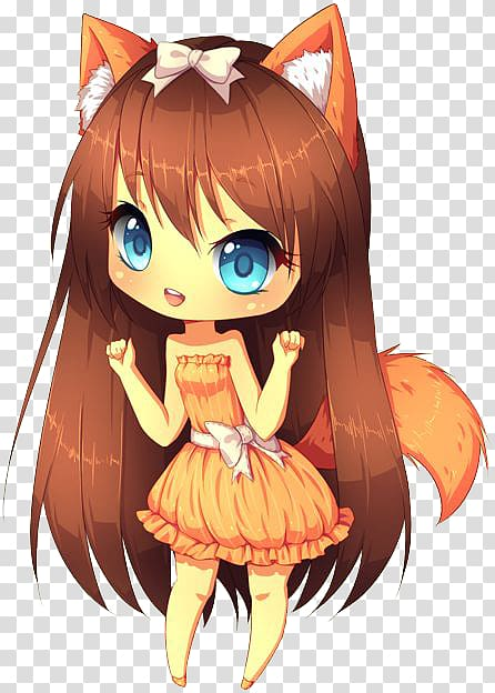 Anime clipart small. Chibi drawing catgirl kavaii