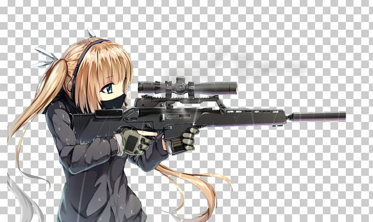 Rifle drawing png air. Anime clipart sniper