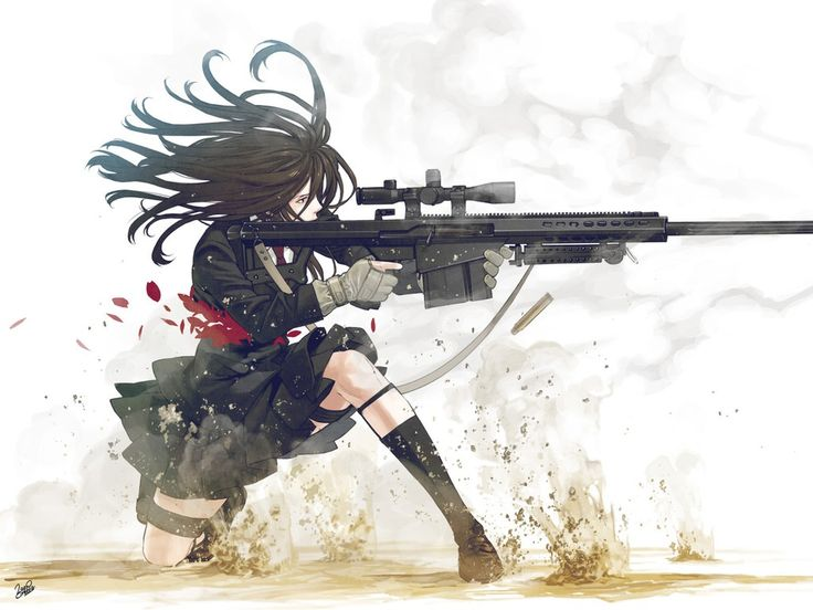 Anime clipart sniper.  best fight me