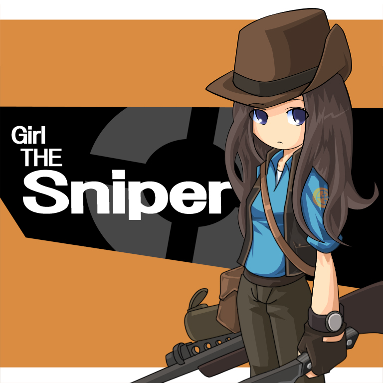 Anime clipart sniper. Tf team fortress zerochan