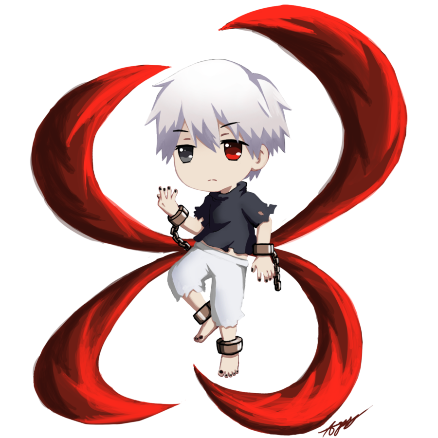 Anime clipart tokyo ghoul. Chibi kaneki from by