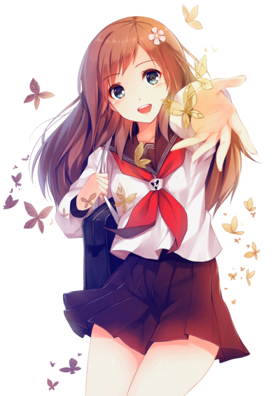 Download girl free png. Anime clipart transparent background