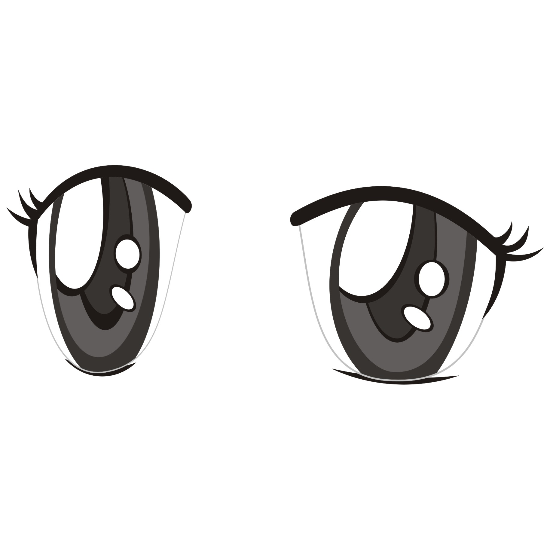 For free use eyes. Anime clipart vector