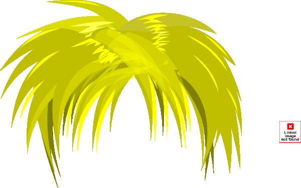 Blond hair clip art. Anime clipart vector