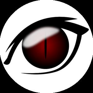 Anime clipart vector. Eye clip art at