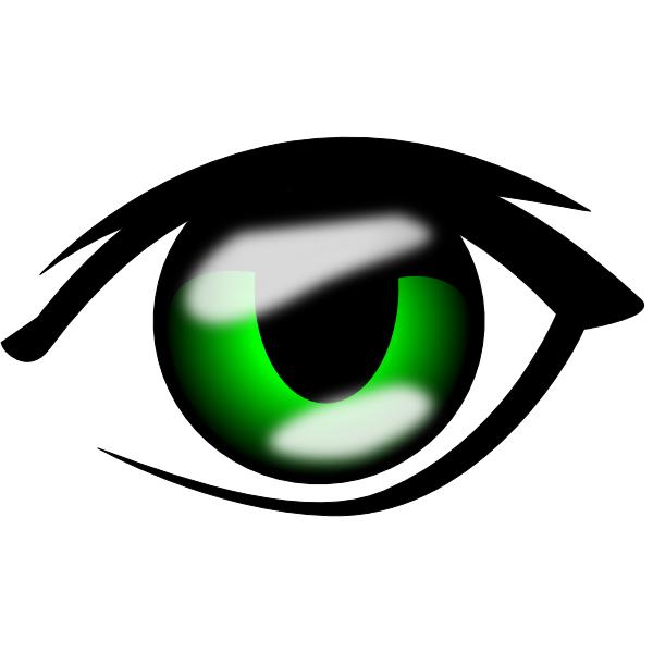 Eye clip art at. Anime clipart vector