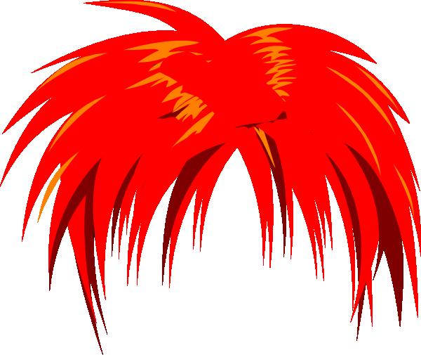 Anime clipart vector. Hair red clip art