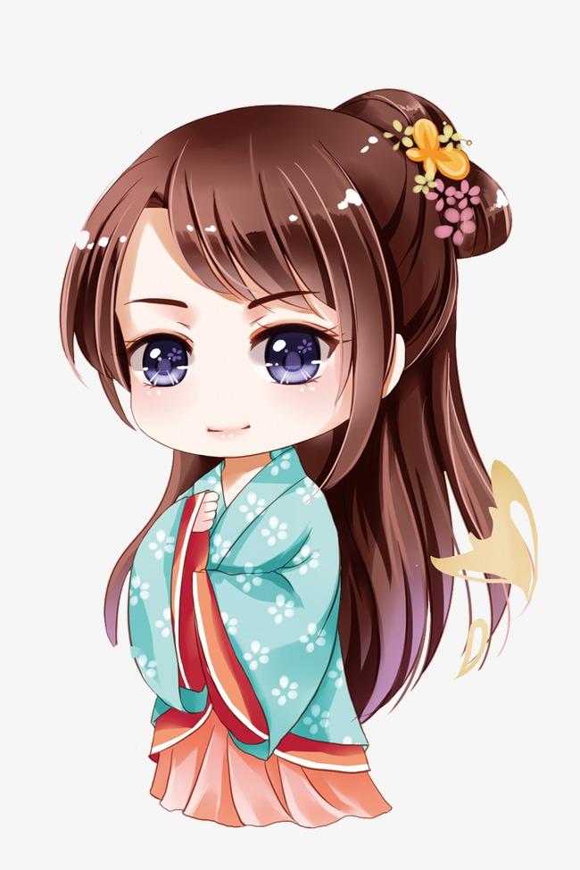 Cartoon girl comics png. Anime clipart vector