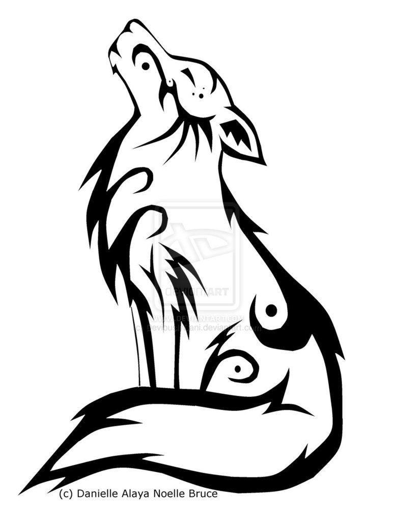 Tribal tattoo the random. Anime clipart wolf