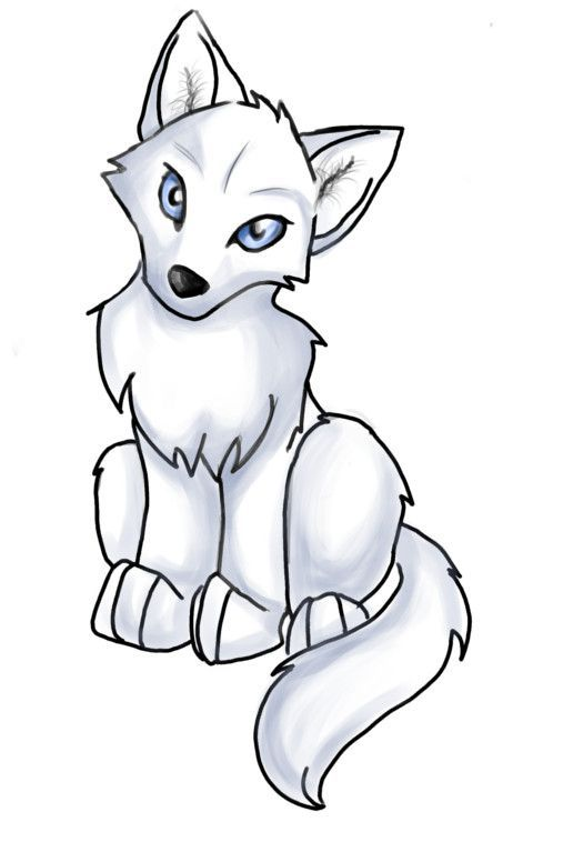 Anime clipart wolf. Pup easy best projekty