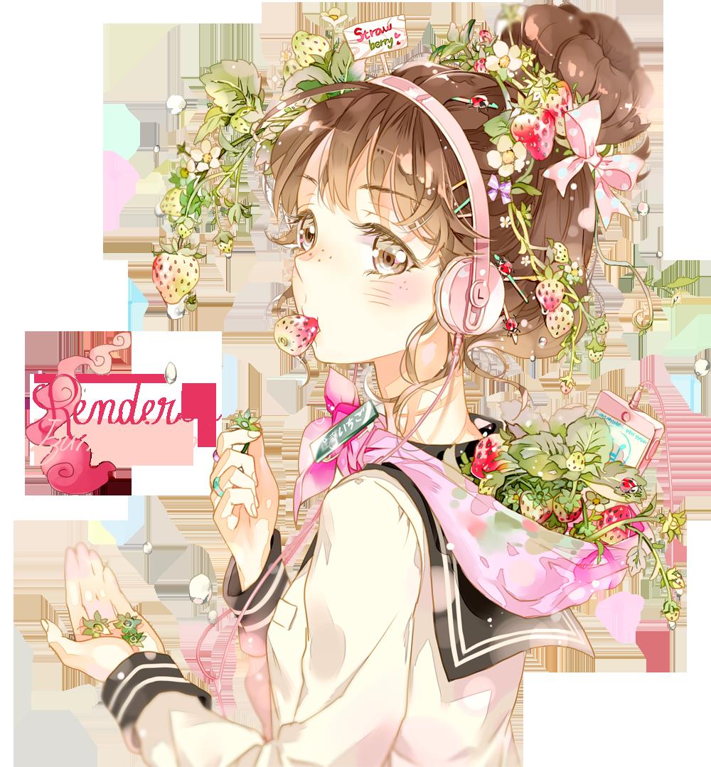 Deviantart fan art blush. Anime flower png