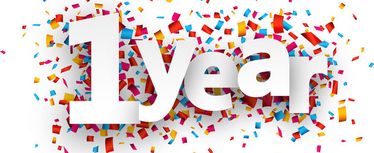 Anniversary clipart 1 year. One celebration ideas general