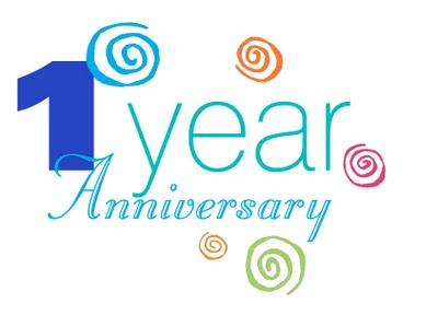 Happy st . Anniversary clipart 1 year