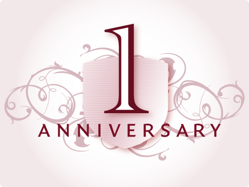 One pictures congratulating me. Anniversary clipart 1 year