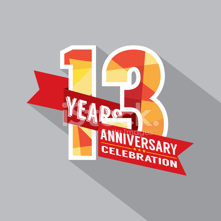 th years celebration. Anniversary clipart 13th