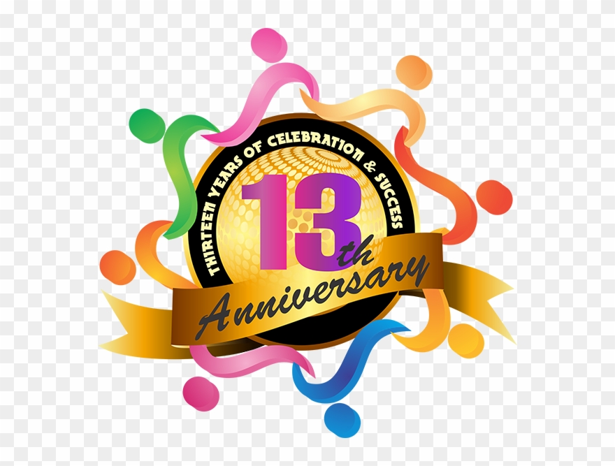 Anniversary clipart 13th. Glaze trading india pvt
