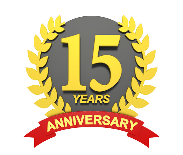 Anniversary clipart 15 year.  years d character