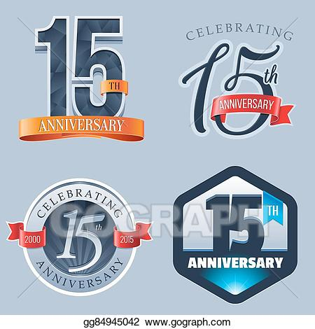 Vector stock th logo. Anniversary clipart 15 year