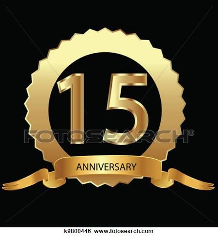 Anniversary clipart 15 year.