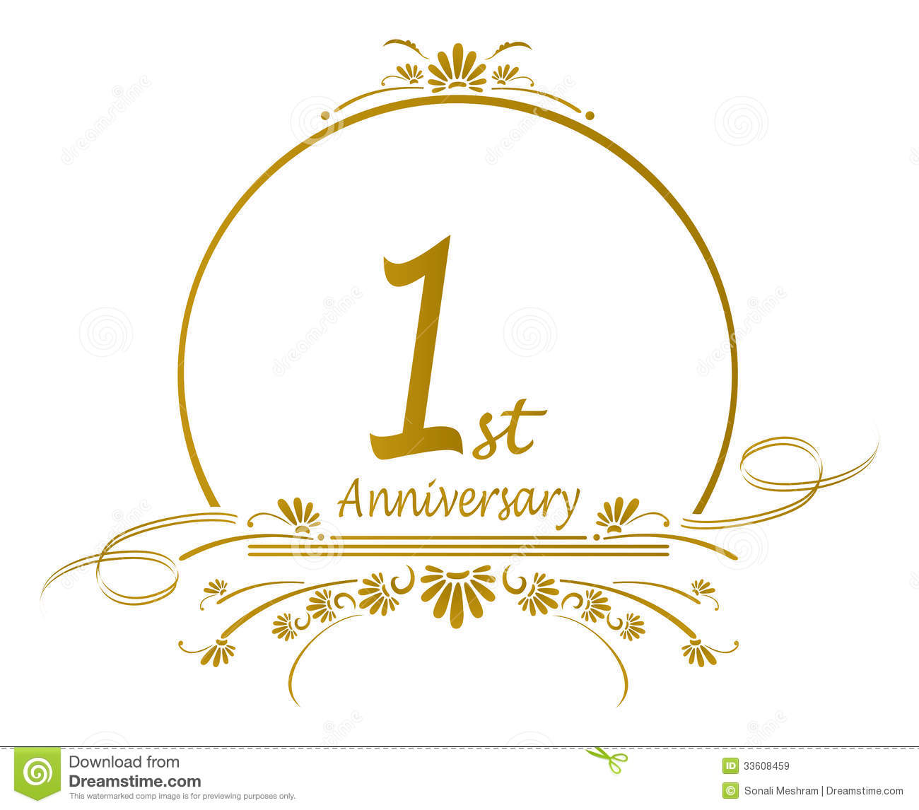Anniversary clipart 1st.  st
