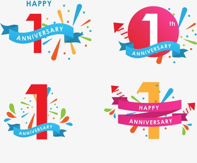 Anniversary clipart 1st. Icon st celebrates png