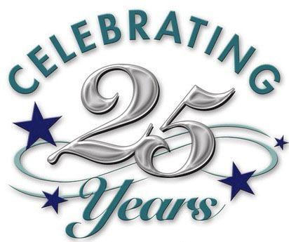 Anniversary clipart 25 year. Celebrating years by bob