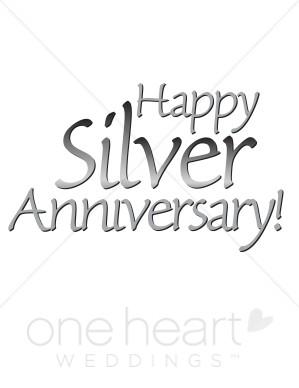 Anniversary clipart 25 year. Silver wedding