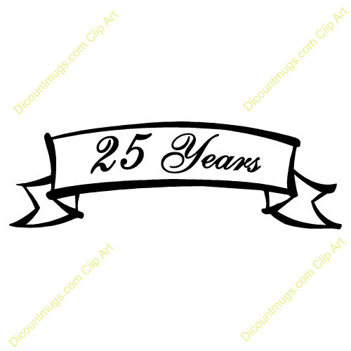 Anniversary clipart 25 year.  years of service