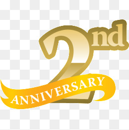 Anniversary clipart 2nd.  nd png images