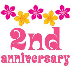 Hawaiian flowers nd tropical. Anniversary clipart 2nd
