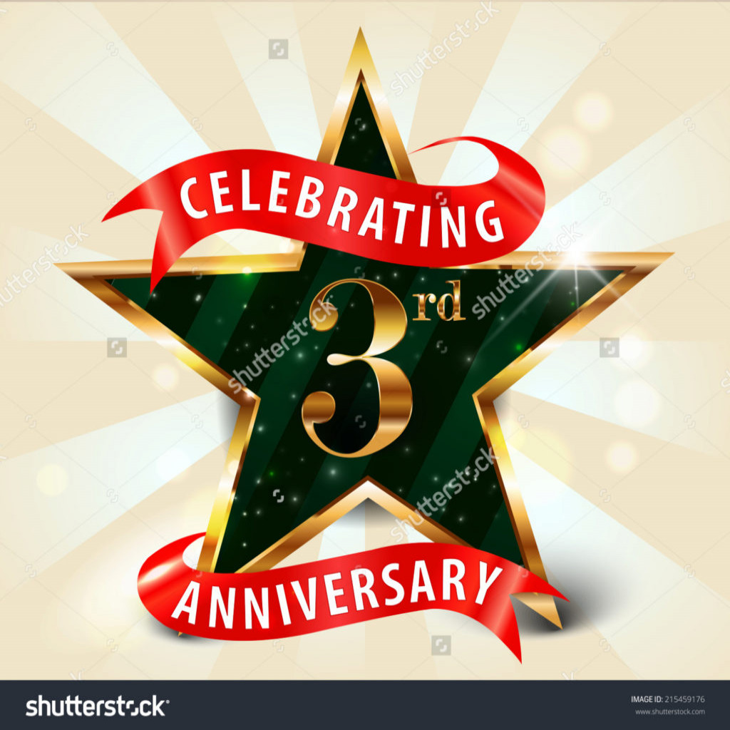 Anniversary clipart 3rd.  rd year images