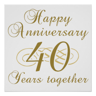 Anniversary clipart 40 year.  th custom card