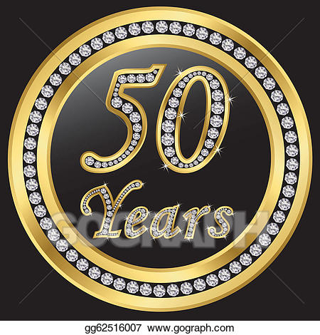 Anniversary clipart 50 year. Eps vector years happy