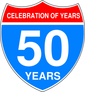 Anniversary clipart 50 year. Interstate th sign clip