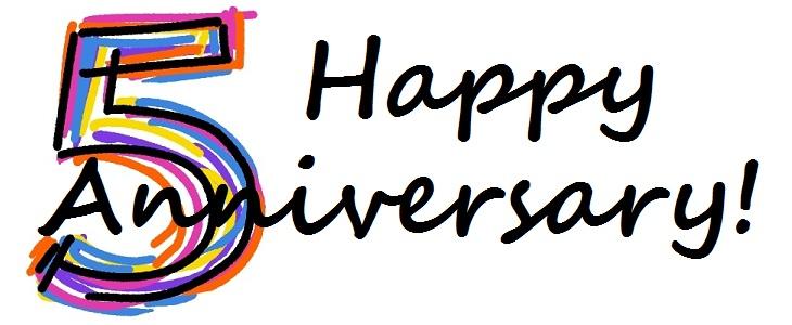 Happy th . Anniversary clipart 5th