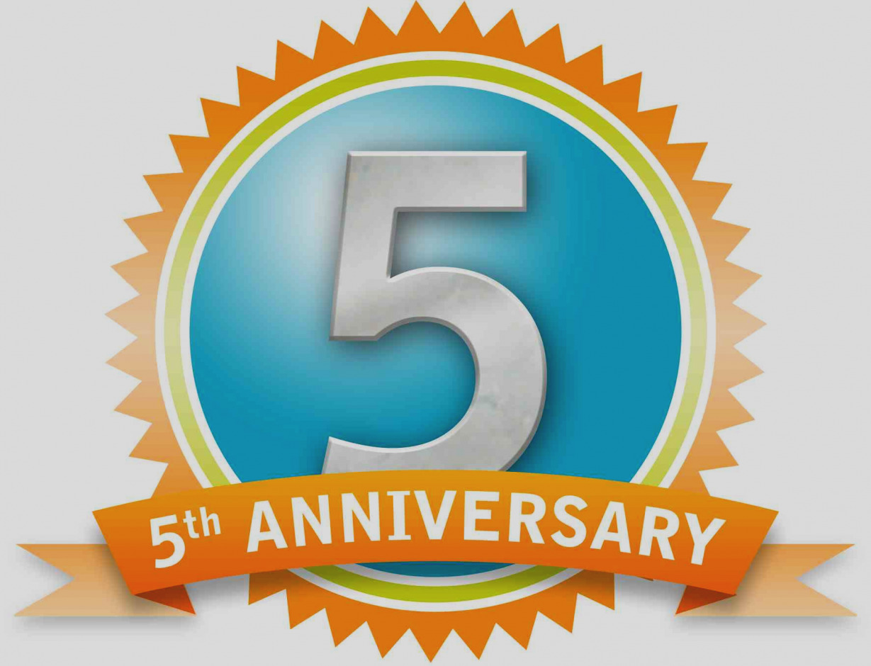Anniversary clipart 5th. Amazing work clip art