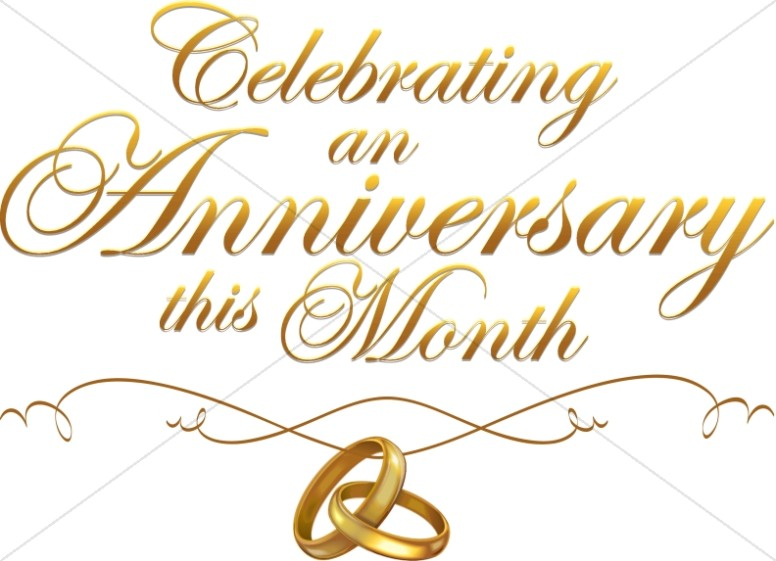 Anniversary clipart anniversary celebration. Script with rings christian