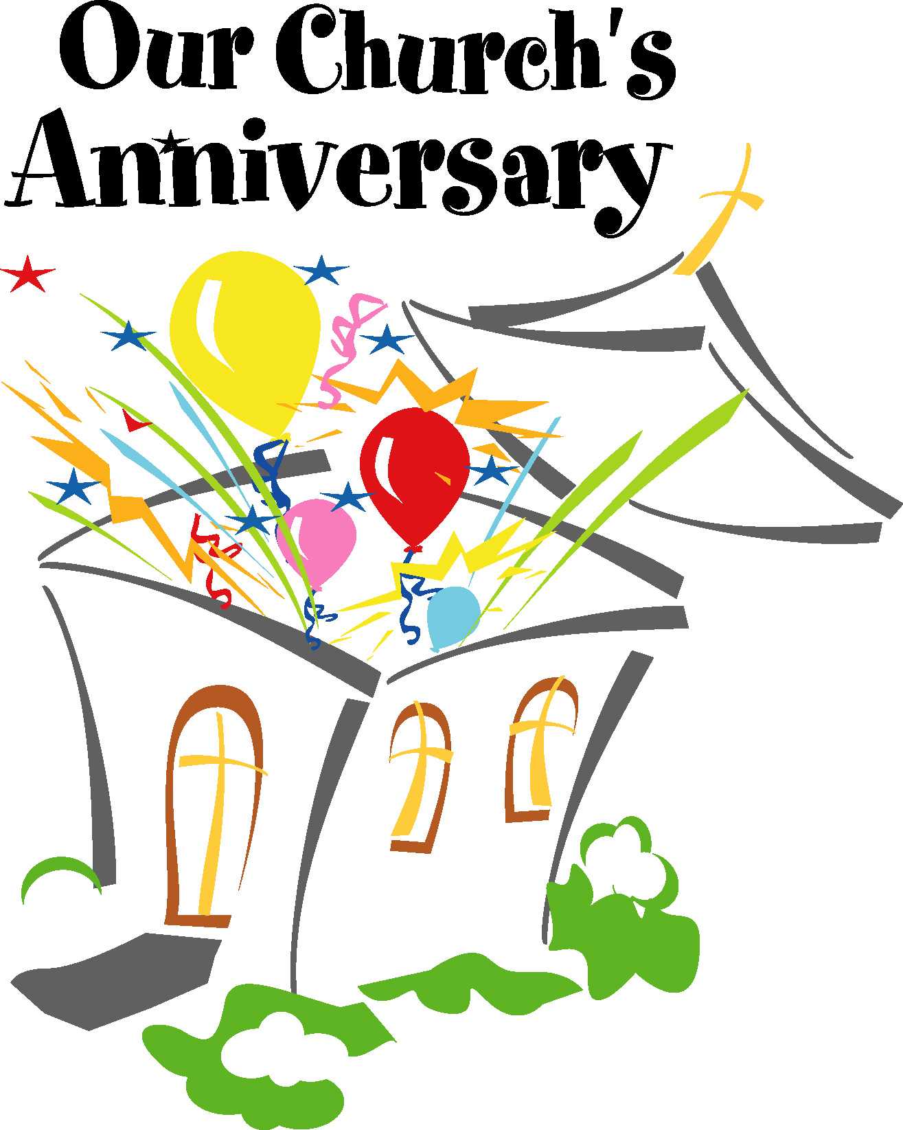 church clipartlook. Anniversary clipart anniversary celebration