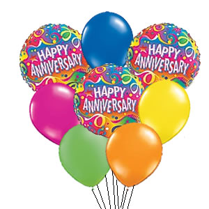 Happy th . Anniversary clipart balloon