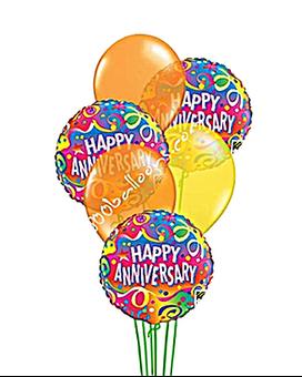 Balloons . Anniversary clipart balloon