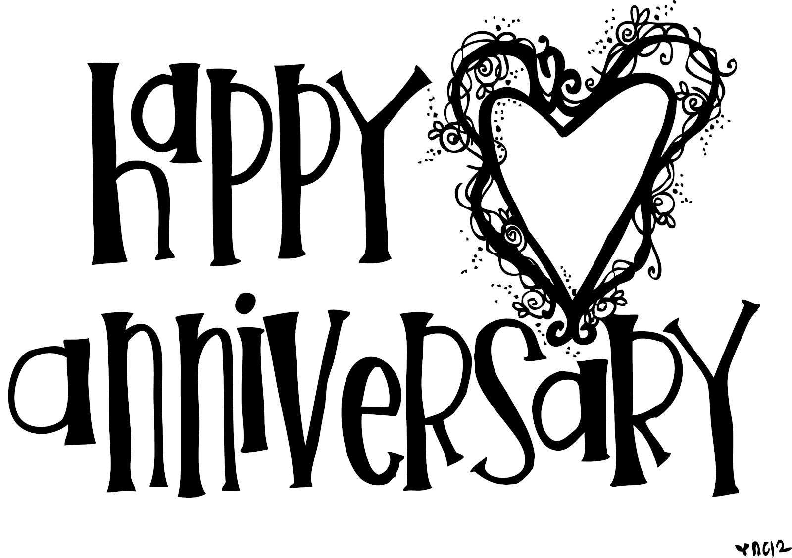 collection of high. Anniversary clipart black and white