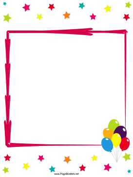 Anniversary clipart border. Great for birthday parties