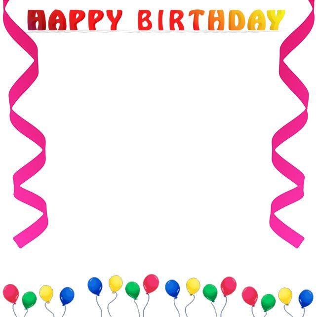 Border clip art free. Boarder clipart happy birthday