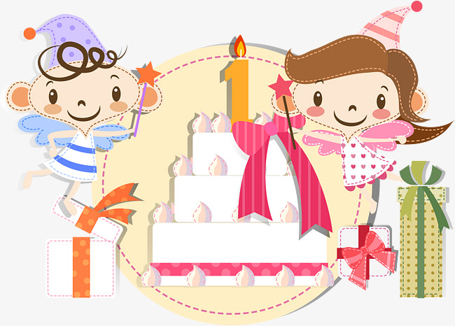 Anniversary clipart business. Cute cartoon celebration st