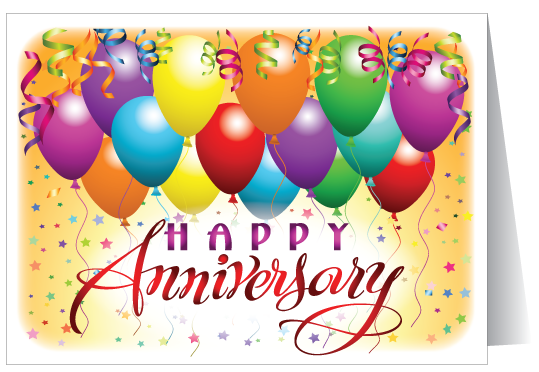 Happy th year greeting. Anniversary clipart business