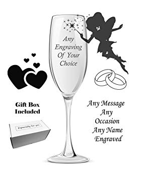 Anniversary clipart champagne flute. Personalised engraved birthday gift